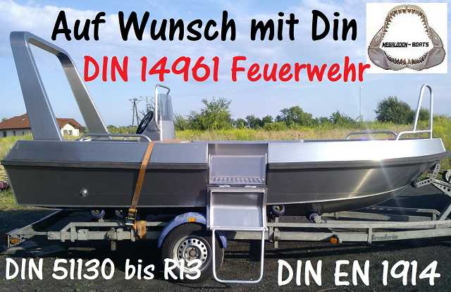 Din14961 Feuerwehr Megalodon Boote Tinn silver Aluminiumboote Aluboote Linder